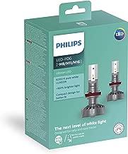 Philips Ultinon LED H8 / H11 / H16 Bulbs Set of 2x Bulbs 6200K +160% PX26d 11366ULWX2