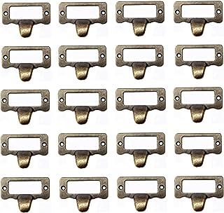 20Pcs Antique Iron Label Frame Card Holder Cup Pull Handle Drawer Box Case Cabinet Cupboard Carpenter Repair decoration Ha...