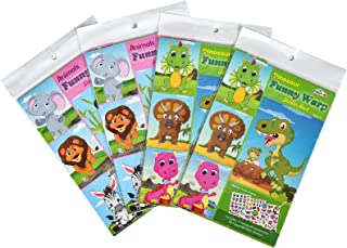 iKammo 36 Sheets Make-a-Face Stickers Animals & Dinosaur Stickers DIY Stickers for Kids.Sinceroduct Make Your Own Stickers...