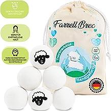 Farrell Brec 6 XXL extra langlebige Trocknerbälle für Wäschetrockner - natürlicher Weichspüler aus 100% neuseeländischer Schafswolle - in Handarbeit – optimal für Daunen