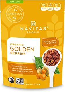 Navitas Organics Goldenberries, 4oz. Bag, 4 Servings — Organic, Non-GMO, Sun-Dried, Sulfite-Free