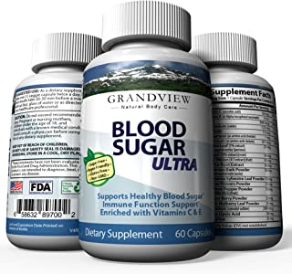 Blood Sugar Ultra | Supports Healthy Blood Sugar & Glucose Level | Support Cardiovascular Health | 60 Capsules