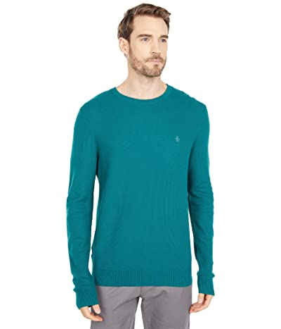 Original Penguin Tuck Stitch Crew Sweater (Storm) Men