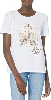 Karl Lagerfeld Paris Women's Short Sleeve Crew Neck Logo T Shirt