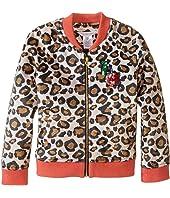 Little Marc Jacobs - Resort - Faux Fur Leopard Jacket with Cherry Patch (Toddler/Little Kids)
