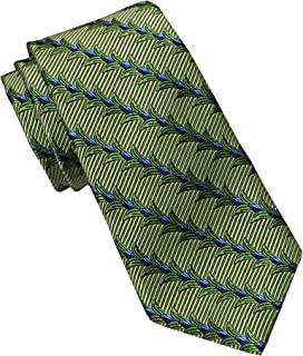 Green Floral Striped Tie
