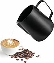 ابريق لصنع رغوة الحليب من ميبرو من الستانلس ستيل مع مقياس متدرج، مناسب للباريستا وللاستخدام في المطبخ والمنزل لتحضير القهو...