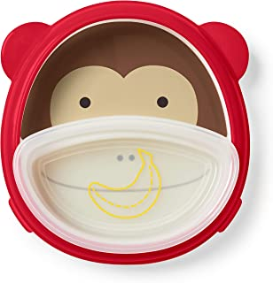 Skip Hop Baby Plate and Bowl Set, Monkey/Red/Brown