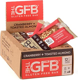 The GFB Protein Bars, Cranberry Toasted Almond, 2.05 Ounce (Pack of 12), Gluten Free, Non GMO