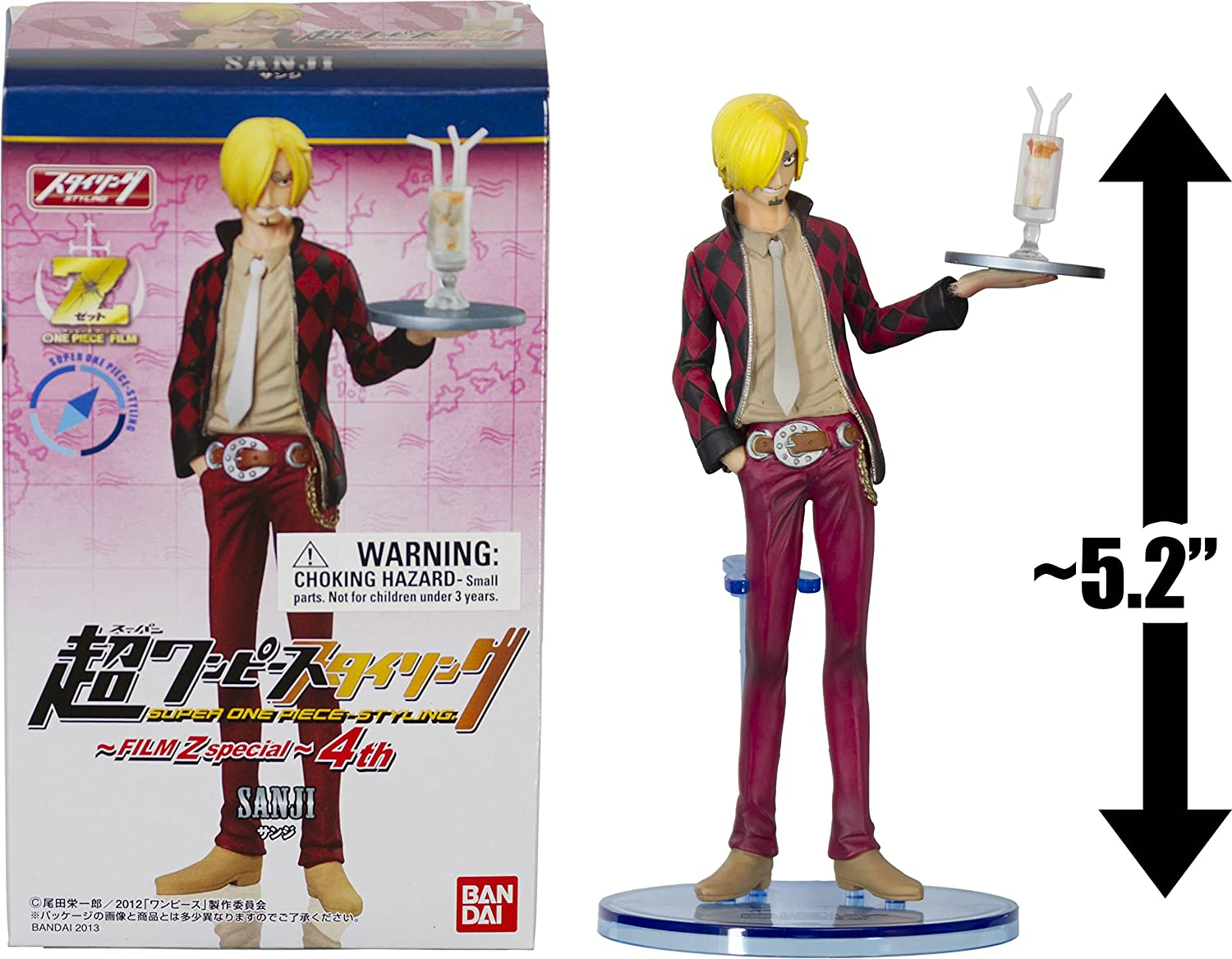 Sanji 5.2 Figure  Super One Piece Styling Figure  Film Z Special Series  4 (Japanese Import)