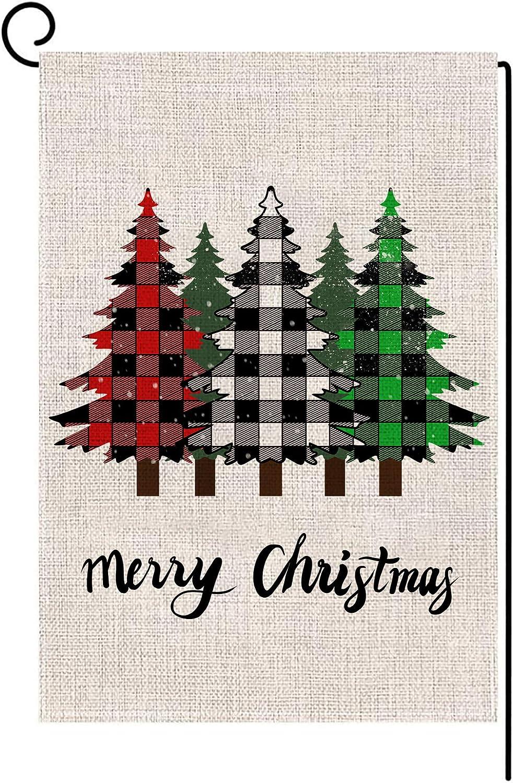 Ranking TOP1 Merry Ultra-Cheap Deals Christmas Garden Flag Vertical Winter Buffalo Sided Double