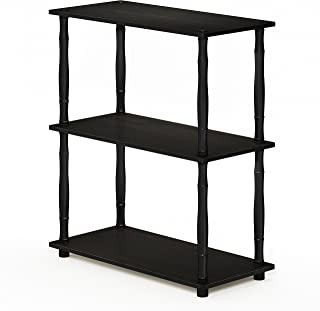 FURINNO Turn-N-Tube 3-Tier Compact Multipurpose Shelf Display Rack, Classic, Espresso/Black
