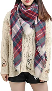 Large Tartan Plaid Cashmere Feel Soft Cozy Warm Lightweight Blanket Scarf Wrap Shawl
