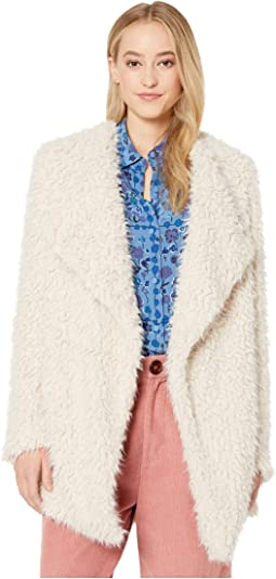 Soft Serve Wubby Drape Front Coat