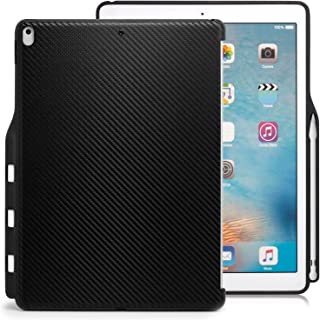 KHOMO - iPad Pro 12.9 Inch Carbon Fiber Cover (Compatible with 2015 and 2017 Version) - Companion Cover - with Pen Holder - Perfect Match for Smart Keyboard