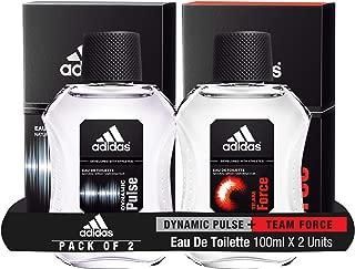 Adidas Dynamic Pulse Eau De Toilette for Men, 100ml with Team Force Eau De Toilette for Men, 100ml