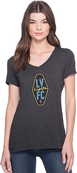 Las Vegas Lights F.C. Logo V-Neck Tee