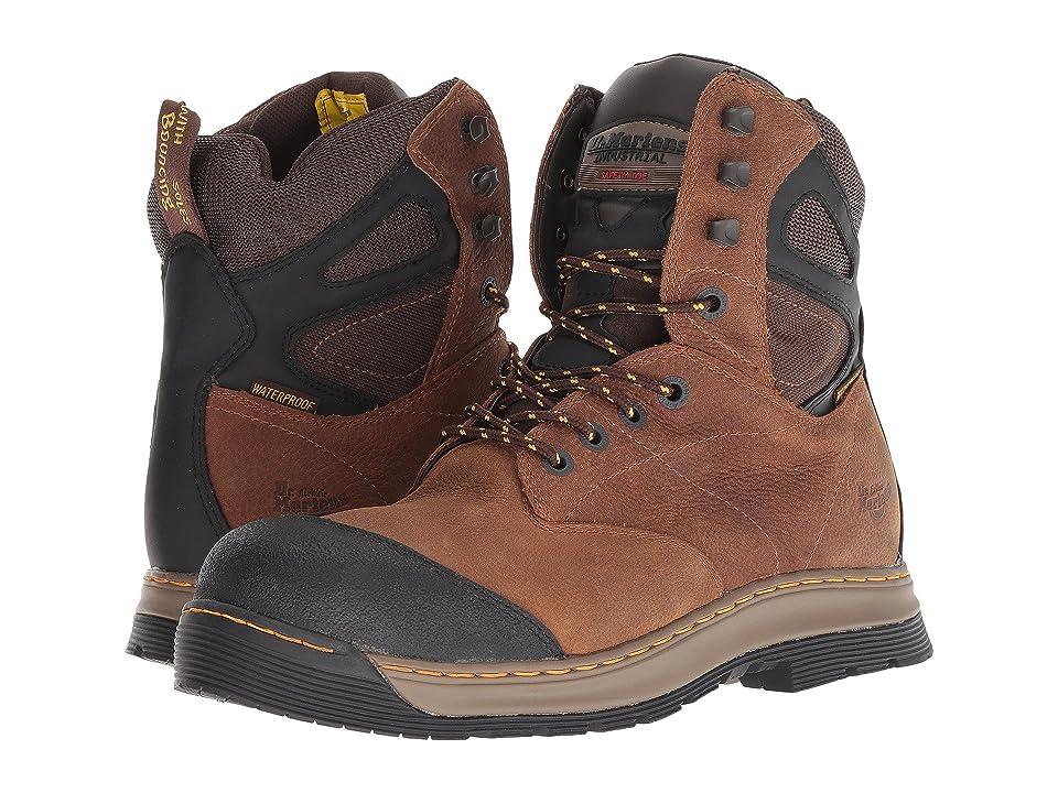 Dr. Martens Spate Electrical Hazard Waterproof Steel Toe 8-Eye Boot (Brown Overlord Waterproof) Men