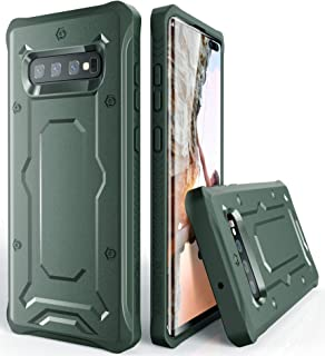 Galaxy S10+ Plus Heavy Duty Case - ArmadilloTek [Urban Ranger] Slim TPU Bumper Shock Absorption Solid Anti-Slip Cover for Samsung Galaxy S10+ Plus [Not S10 or S10e] - Dark Green