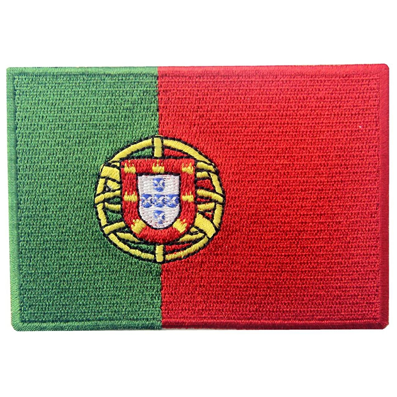 Portugal Flag Embroidered Emblem Portuguese Iron On Sew On National Patch