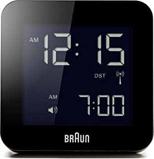 Braun 博朗 BNC009BK-RC闹钟, 全球收音,塑料,黑色,8 x 8 x 5.8厘米