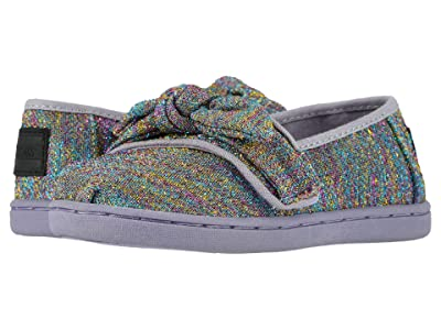TOMS Kids Alpargata (Infant/Toddler/Little Kid) (Drizzle Grey Multi Glimmer Woven/Bow) Girl