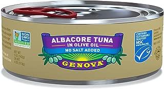 Genova Albacore Tuna in Olive Oil, Low Sodium, 5 Ounce (Pack of 12)