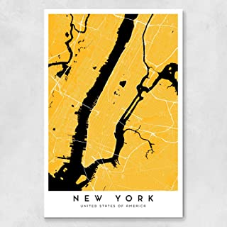 New York City Map - Yellow Cab version - 24 x 36 in