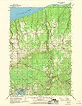 YellowMaps Brule WI topo map, 1:62500 Scale, 15 X 15 Minute, Historical, 1961, Updated 1970, 21.1 x 16.3 in