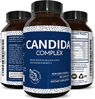 Candida Cleanse Supplement for Men and Women - Natural Candida Albicans Detox Pills Fast Acting Relief Pure Probiotics Protease Enzymes Aloe Vera Leaf Gel 90 Capsules by Natural Vore