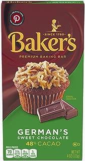 Baker's Premium German's Sweet Chocolate Baking Bar (4 oz Bar)