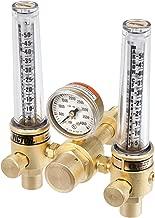 Victor Technologies 0781-1153 DFM-150-580 Medium Duty Flow Meter Cylinder Argon/Helium Regulator, 5-50/20-150 SCFH Flow Range, CGA 580 Inlet Connection