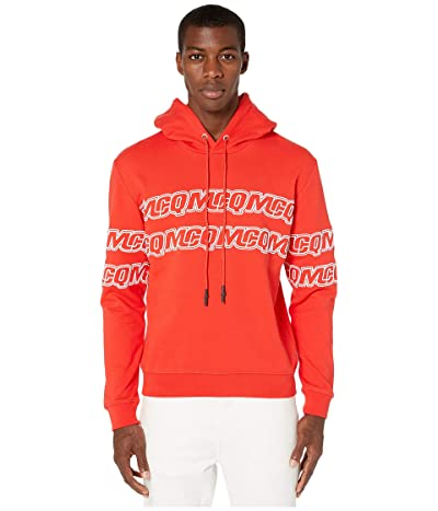 McQ Clean Logo Hoodie (Solar Red) Men