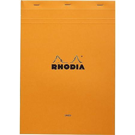 Bloc n°18 Rhodia orange A4 80 F ligné + marge - 18600C (French Edition)