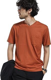[ナノユニバース] 《WEB限定》《汗染み防止》Anti Soaked ヘビー Vネック Tシャツ メンズ