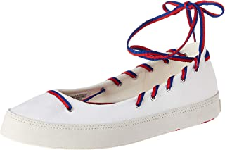 Converse Women's White/Blue/Enamel Red Sneakers-4 UK/India (36.5 EU) (1001696403001)