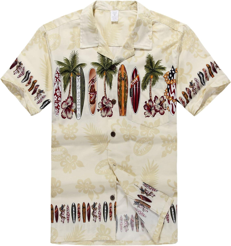 Palm Wave Men's Shirt trend Max 49% OFF rank Aloha Hawaiian