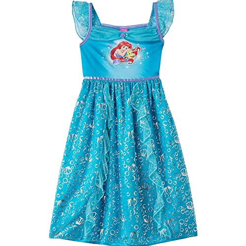 20bff42bfeb The Little Mermaid Ariel Girls Fantasy Gown Nightgown Pajamas (Toddler  Little Kid Big