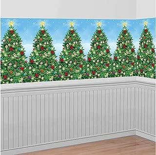 Christmas Decoration Evergreen Wall Scene Setter | Plastic