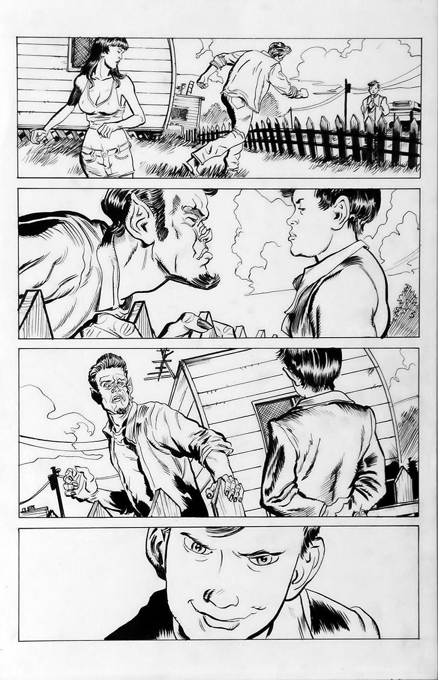 DEAN KOTZ Original Published Art, TRAILER PARK of TERROR #9 page 3, Zombies
