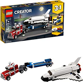LEGO Creator 3in1 Shuttle Transporter 31091 Building Kit , New 2019 (341 Piece)