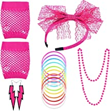 neon pink 80s fancy dress