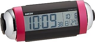 セイコー クロック 目覚まし時計 電波 デジタル 大音量 ベル音 PYXIS ピクシス RAIDEN ライデン ピンク パール NR530P SEIKO
