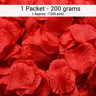 TIED RIBBONS Valentines Day Gift for Boyfriend Girlfriend Husband Wife Girls Boys - Valentines Special (1 Packets Faux Red Rose Petals)