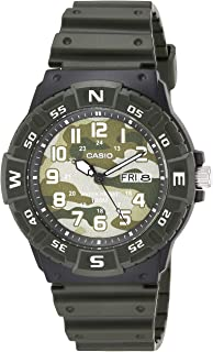 Casio Men's Analog Quartz Resin Strap, Green, 24.77 Casual Watch (Model: MRW-220HCM-3BVCF