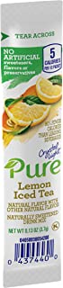 Crystal Light Pure Lemon Iced Tea Drink Mix (84 On the Go Packets, 12 Boxes of 7)