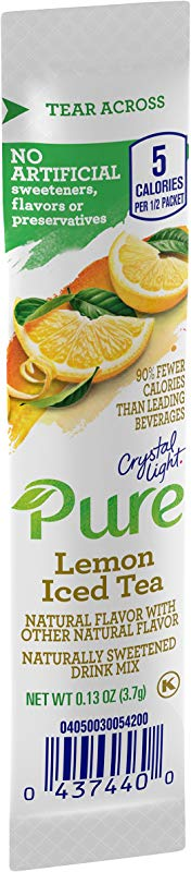 Crystal Light Pure Lemon Iced Tea Drink Mix 84 On The Go Packets 12 Boxes Of 7