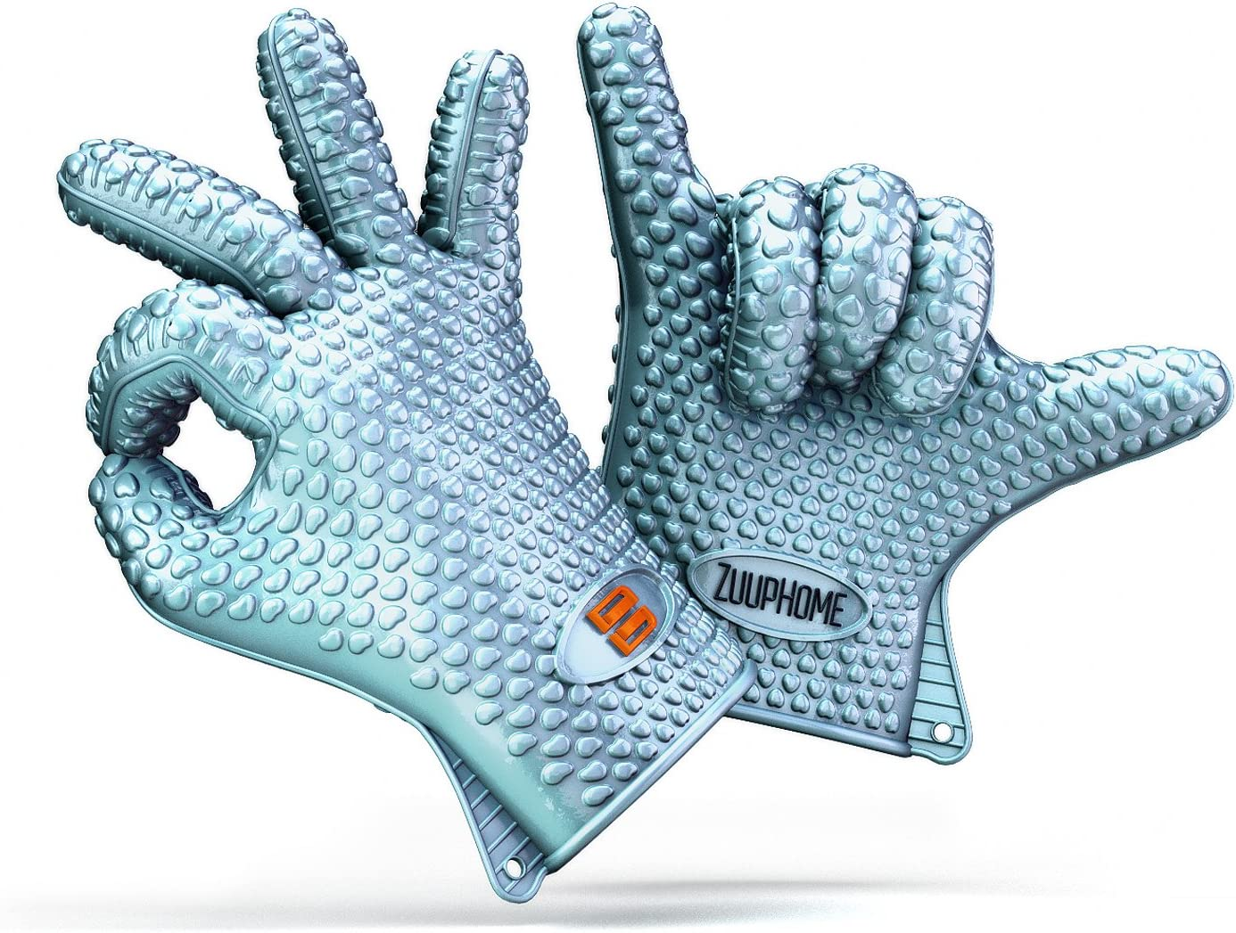 Grill Mitt Silicone Gloves For Heat Resistant Cooking Glove And BBQ Meat Gloves For In The Oven ZuupDesign