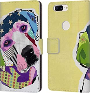 Official Michel Keck Yellow Lab Dogs Leather Book Wallet Case Cover Compatible for OnePlus 5T