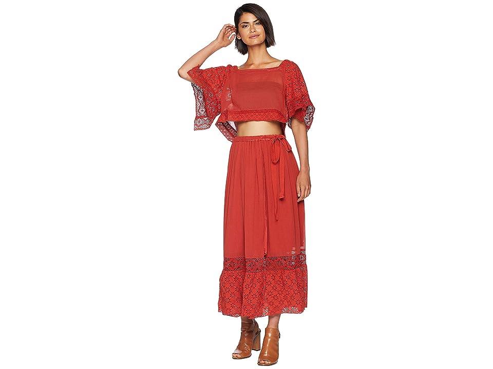 Free People Darling Skirt Set (Red) Women